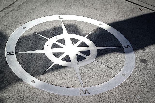 Yaletown Street Compass