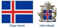 Flag and crest of Iceland
