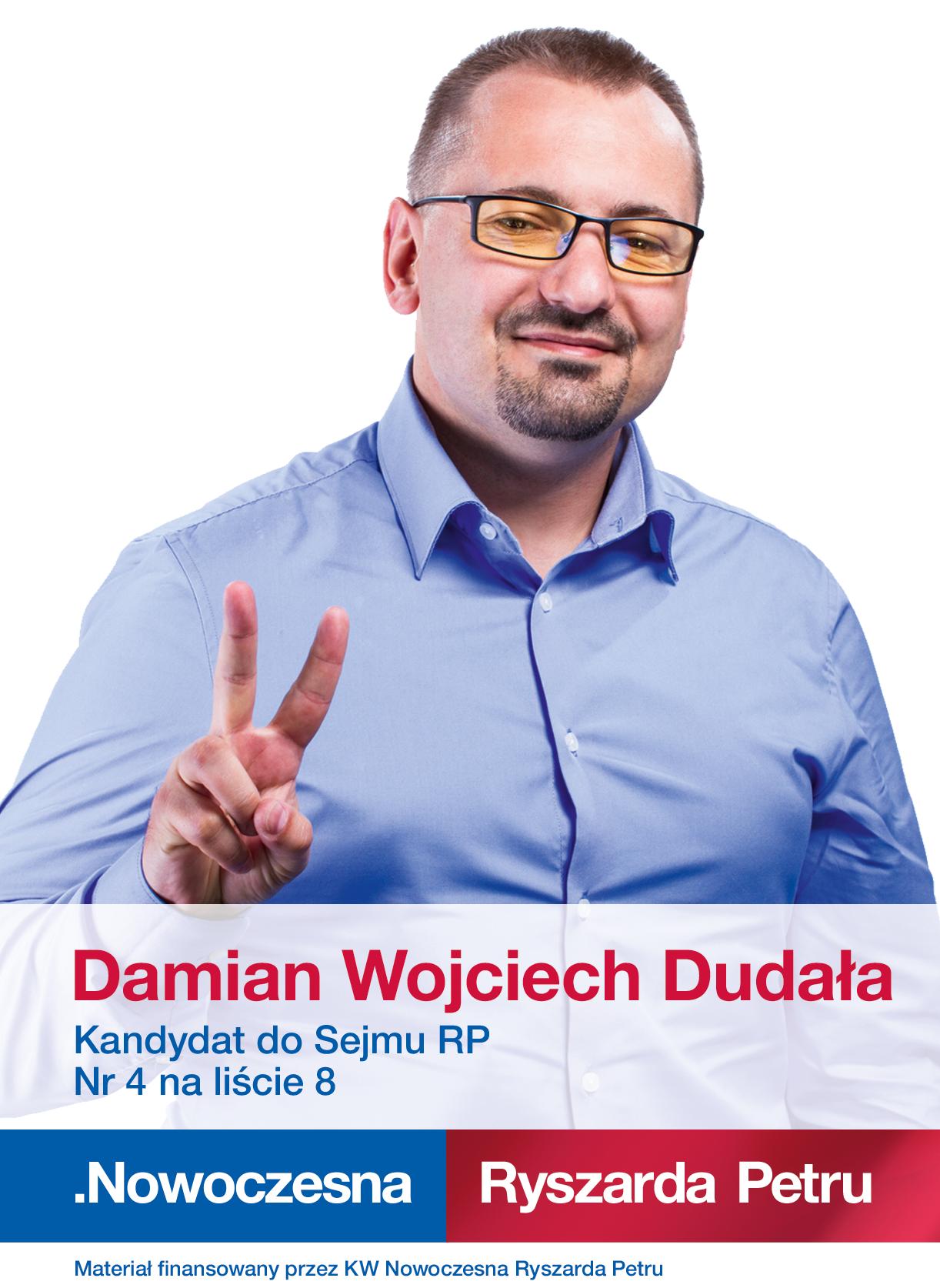Damian Wojciech Dudala – ulotka